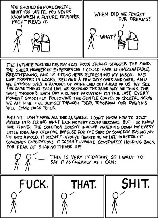 xkcd.com comic #137: dreams